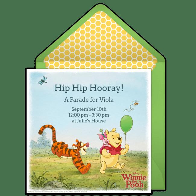 free winnie the pooh online invitation