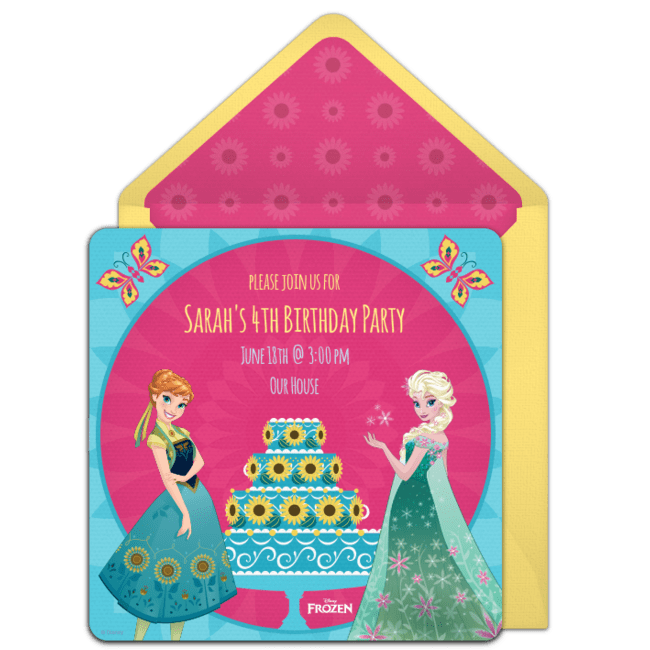free frozen fever birthday online
