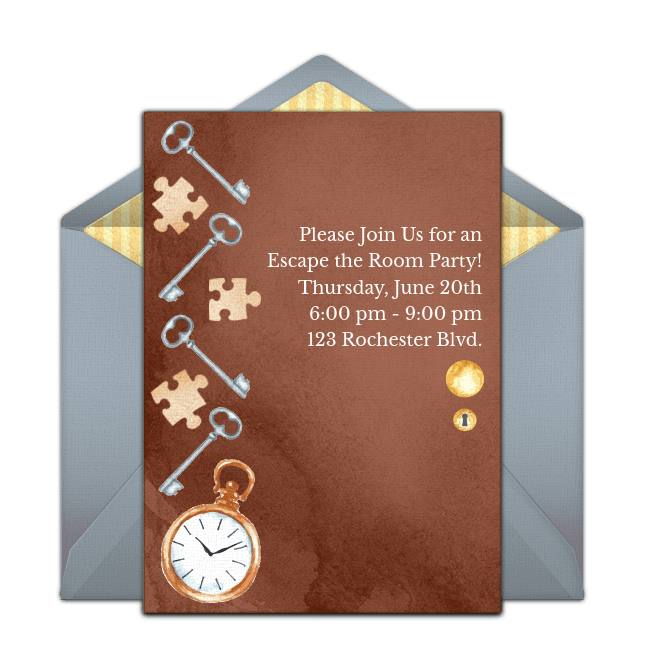 free escape the room online invitation