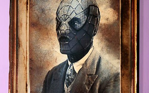 Hipster Superheroes or Old Vintage Portraits with Superheroes?