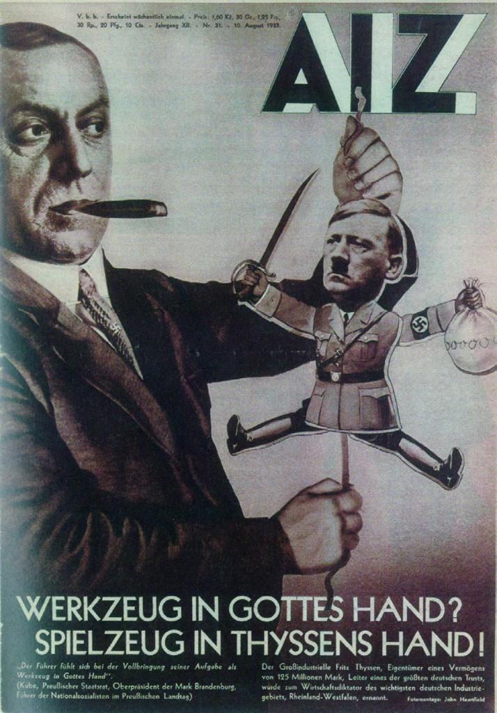 """Džons Hārtfīlds, """"Instruments Dieva rokās? Rotaļlieta Tīsena rokās!"""", 1933"""