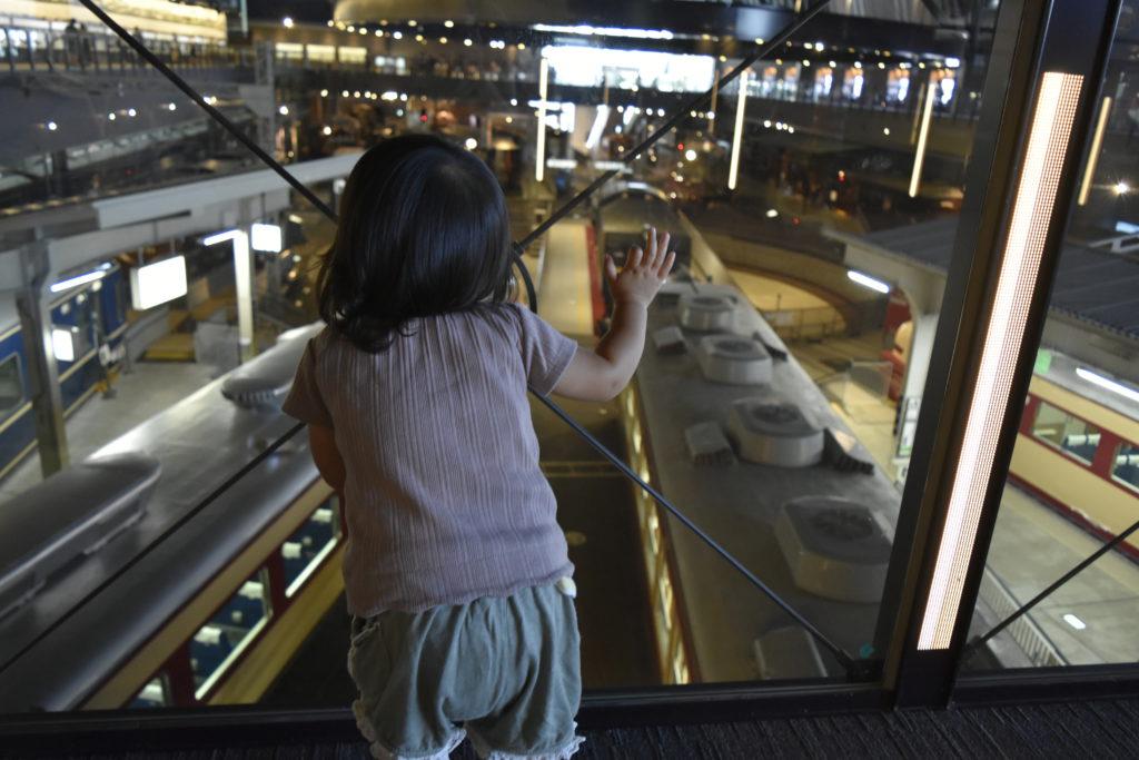 車両ステーションを2階から見た図