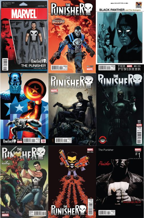 Punisher Vol 10 Variant Covers