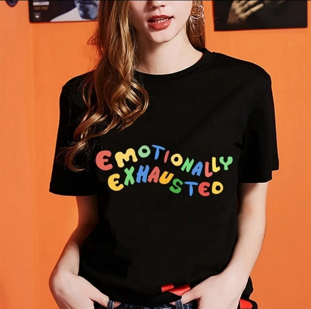 Emotionally Exhausted Black T-Shirt
