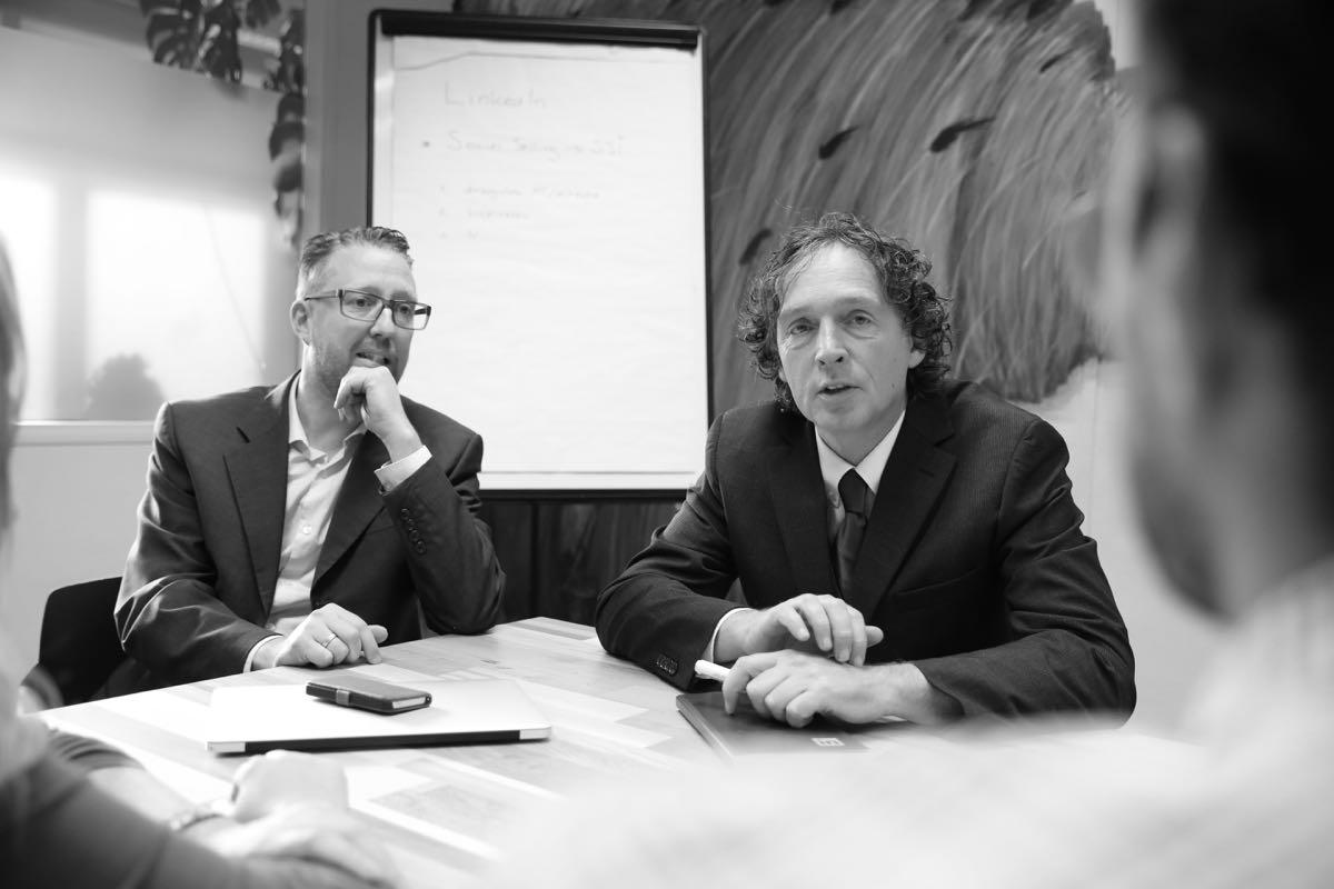 Richard en Jan Willem klantoverleg