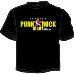 Punk Rock Night logo shirt