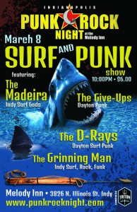Indianapolis Punk Rock Night - Surf and Punk Night! The Madeira, The Give-Ups, The D-Rays, Grinning Man