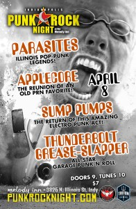 Applecore reunion, Sump Pumps return, Parasites, Thunderbolt Grease-Slapper @ The Melody Inn | Indianapolis | Indiana | United States