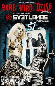 Early show: Barb Wire Dolls, Svetlanas, 57 (Korea) @ The Melody Inn | Indianapolis | Indiana | United States