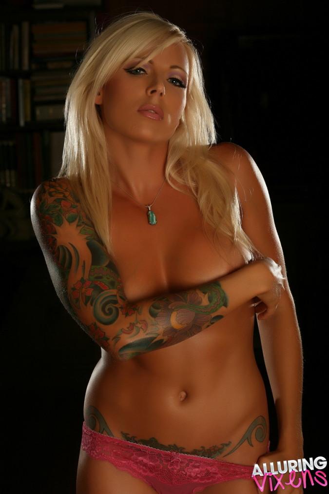 trisha alluring vixens blonde tattooed nice tits