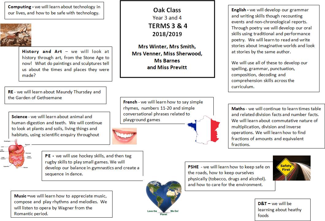 Oak Class Term 3/4 2018-19 – Punnetts Town Community Primary School
