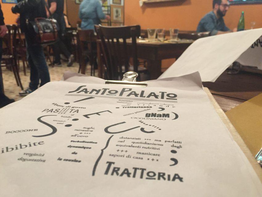 santo palato roma menu