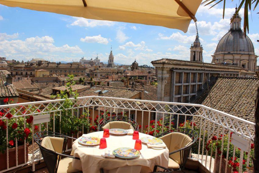 Mater Terrae Roma  Ristorante vegetariano terrazza hotel Raphael  Puntarella Rossa