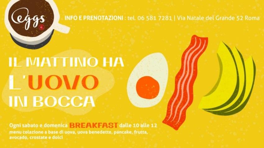 Eggs Il mattino ha l'uovo in bocca
