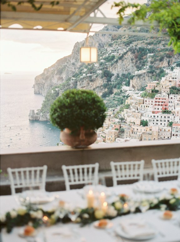 View of Positano from the dinner table
