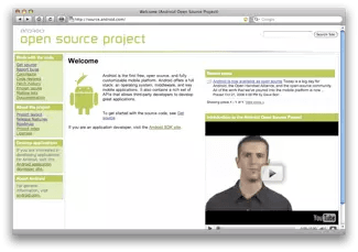 Il sito dell'Android Open Source Project