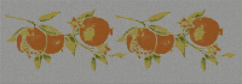 Melograni2 schema punto croce gratuito da stampare