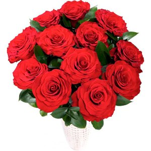 bouquet con 12 rose rosse