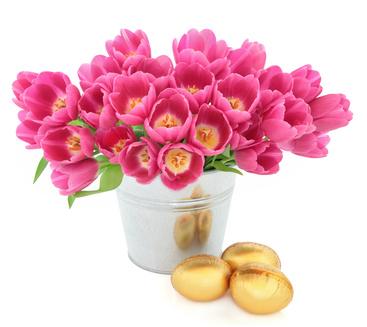 fascio con tulipani rosa