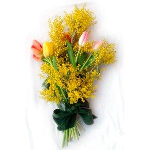 Consegna a domicilio mimosa e tulipani online