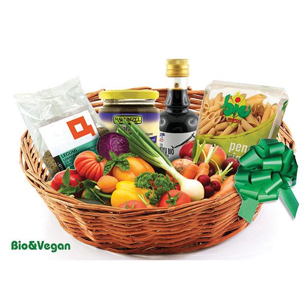 Consegna cesto con prodotti bio a domicilio online