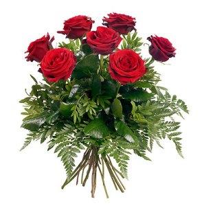 7 rose rosse bouquet