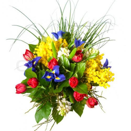 per la Festa della Donna consegna a domicilio fiori misti con mimosa