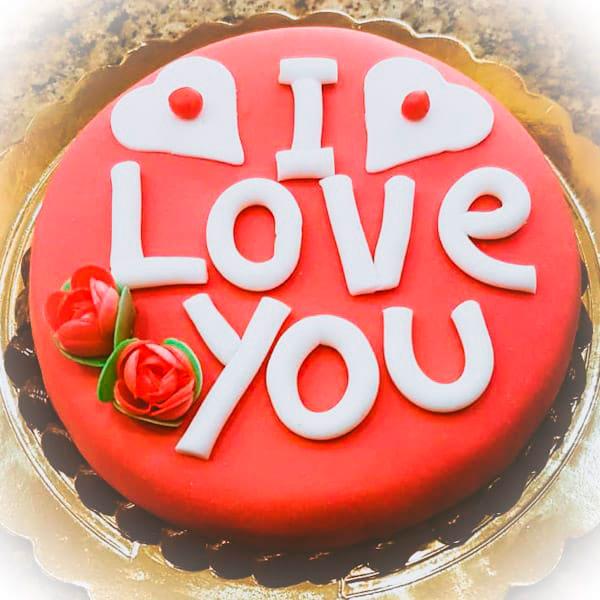 torta amore rossa online