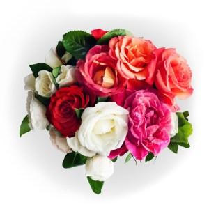 consegna a domicilio bouquet con rose miste online