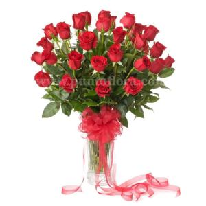 36 rose rosse