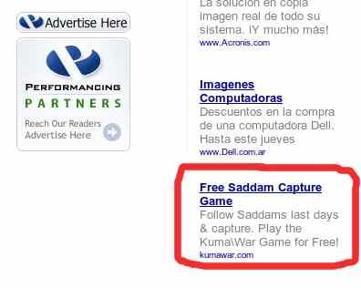 saddam hussein publicidad