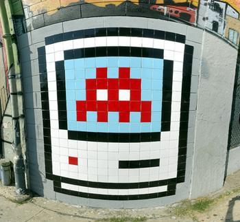 graffiti space invaders
