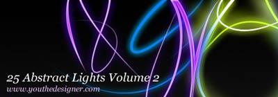 Brushes de luces abstractas