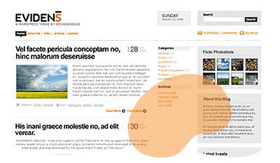 Evidens, nuevo theme para WordPress