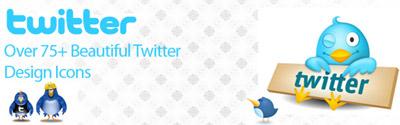 Mas de 75 iconos de Twitter