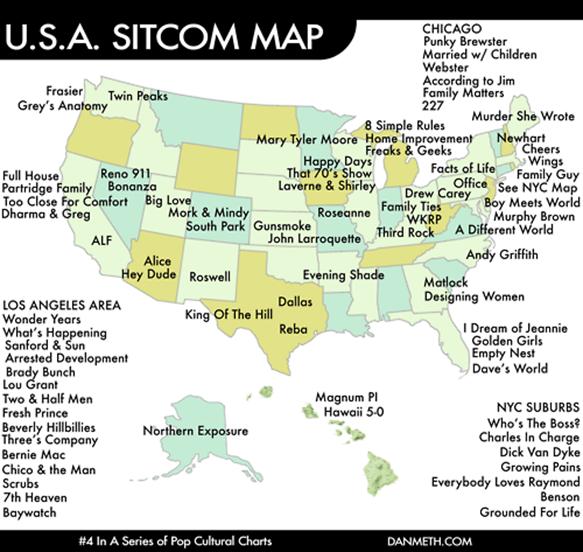 Sitcom Map USA