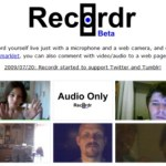 Graba un mensaje de audio o video y compártelo con Recordr