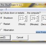Cómo programar el apagado, reinicio e hibernación en Windows