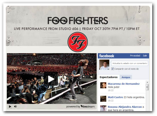 foo fighters facebook