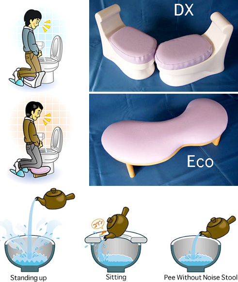 Pee Without Noise Stool