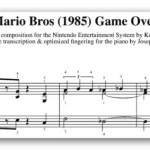 Partituras de Mario Bros para piano