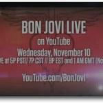 Recital de Bon Jovi en vivo a través de YouTube el 10 de noviembre