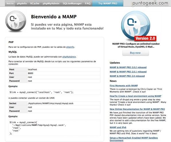 instalar wordpress en mamp