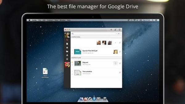 Archy, la app para controlar Google Drive desde Mac