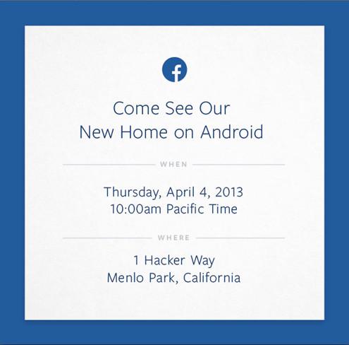 La invitación de Facebook