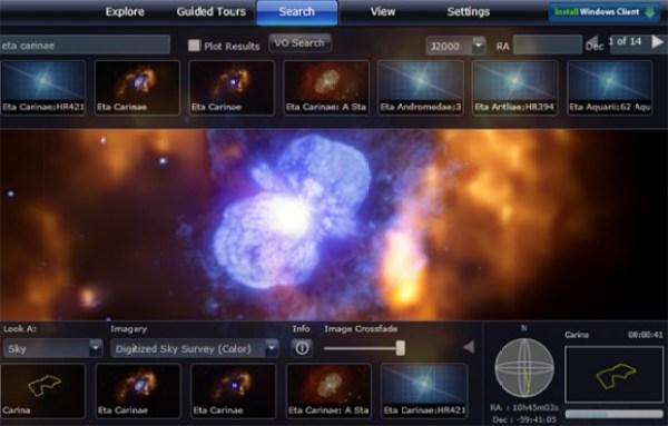 Descubre el universo con Microsoft Worldwide Telescope