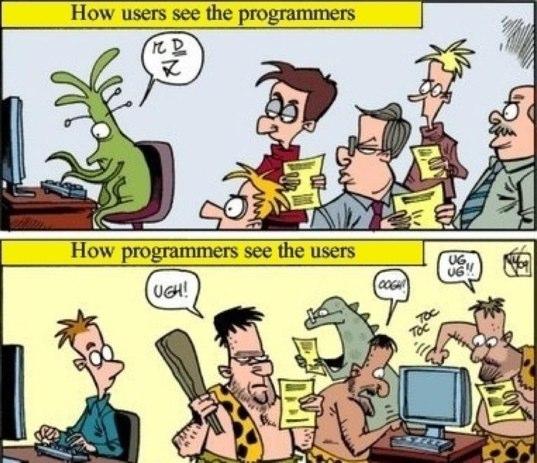 usuarios vs programadores