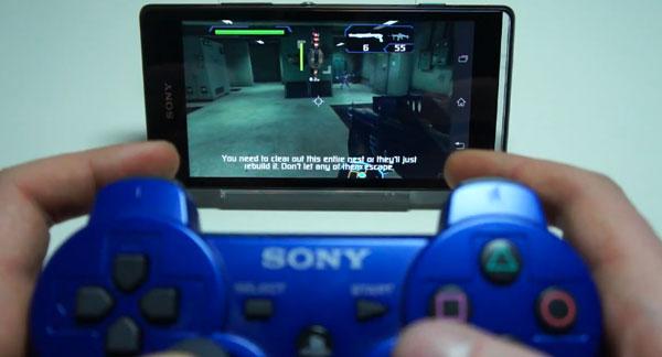 Jugar con el mando de la PS3 en el Xperia