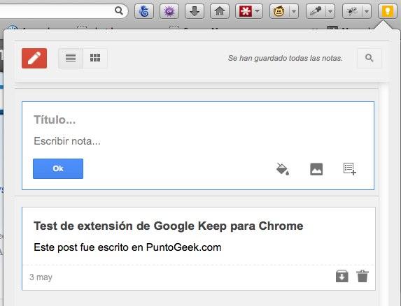 Google Keep para Firefox