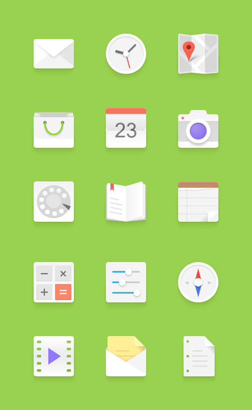 Light-Android-Flat-Icons
